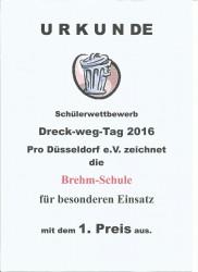Urkunde Dreckwegtag